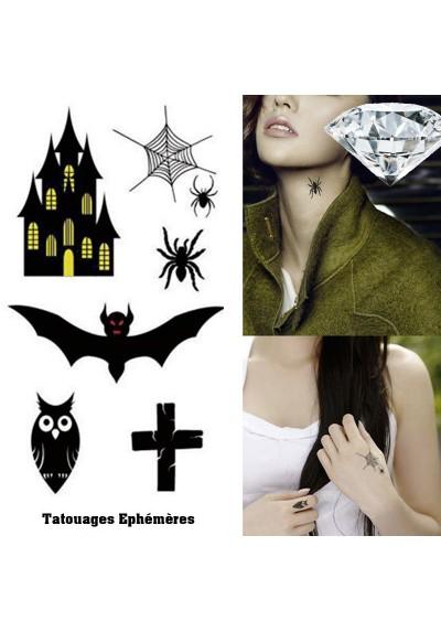 Tatouages éphémères Gothiques