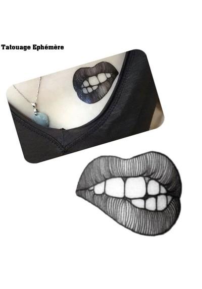 Tatouage Ephémère Temporaire Bouche