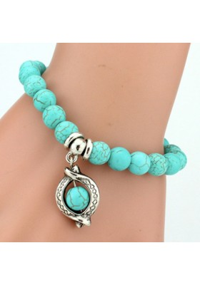 """Bracelet Turquoise avec """"Boule"""""""