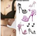 Tatouages Ephémères Temporaire Glamour Chaussure à Talon