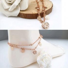 Chaîne de cheville Roses et Strass