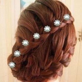 Spirale Cheveux Fleur Strass