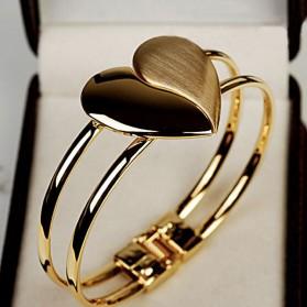 Bracelet Coeur Doré pour Femme