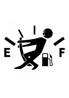 Sticker Auto Fun Jauge Consommation de Carburant