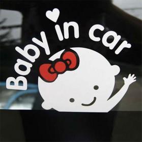 "Sticker Auto Avertissement ""Baby In Car"" mignon"