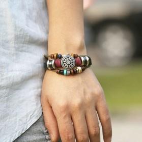 Bracelet Mixte Cuir Homme Femme Couleurs Coulissant