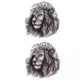 Tatouage Ephémère Temporaire Tête de Lion