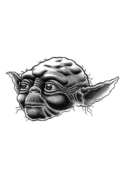 Tatouage Temporaire Ephémère Star Wars Yoda