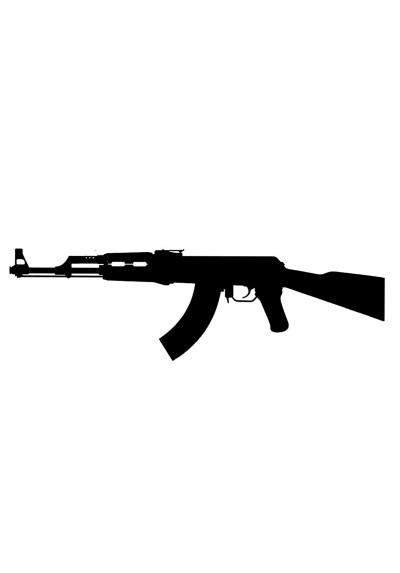 Tatouage Ephémère Temporaire Kalachnikov AK47