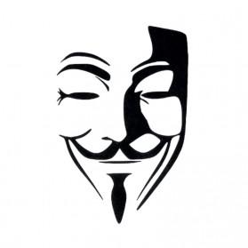 Tatouage Temporaire Ephémère Masque Anonymous V pour Vendetta