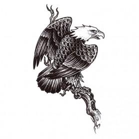 Tatouage Temporaire Ephémère Aigle sur Branche d'arbre