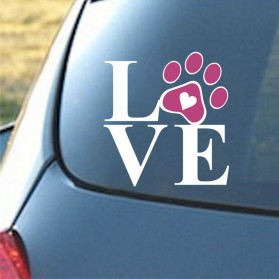 Sticker Auto Bateau Maison Love Patte Chien Chat