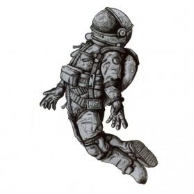 Tatouage Ephémère Temporaire Astronaute en apesanteur