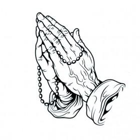 Tatouage Ephémère Temporaire Mains Chapelet Prière