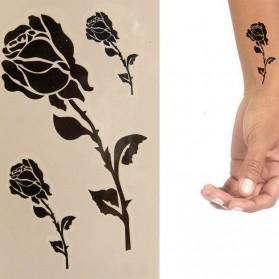 Tatouage Ephémère Temporaire Rose Noire