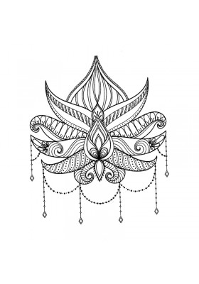 Tatouage Temporaire Ephémère Fleur de Lotus