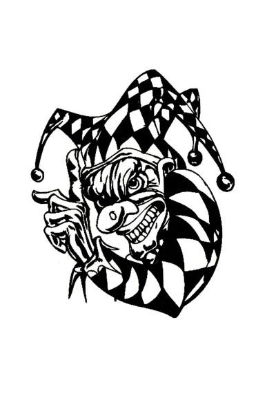 Tatouage Ephémère Temporaire Clown de Gotham City Batman