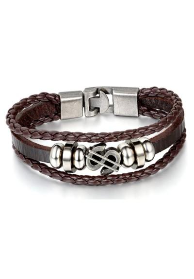 Bracelet Homme Cuir Marron Dollar