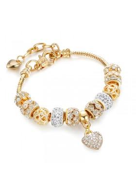 Bracelet Femme Doré Brillant Charms