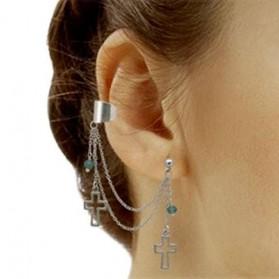 Boucle d'oreille croix