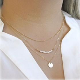 Sautoir Perles et Rond