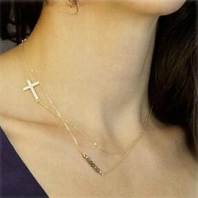 Sautoir Double croix