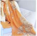 Foulard à motifs (orange)