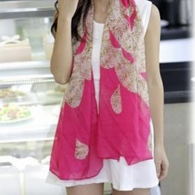 Foulard à motifs (rose)