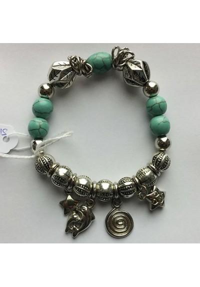 Bracelet Turquoise avec breloques