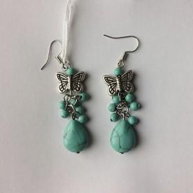 """Boucles d'oreilles Turquoise """"papillons"""""""