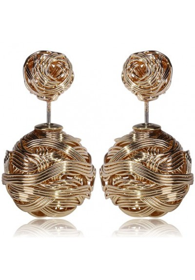 """Boucles d'oreilles globe """"or"""""""