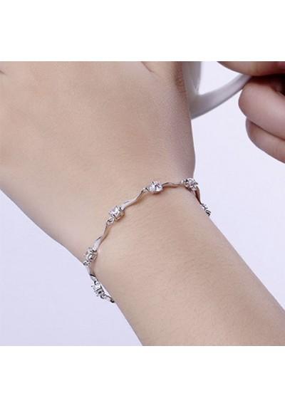 Bracelet Vagues avec Strass