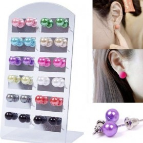 12 paires de boucles d'oreilles avec support inclus