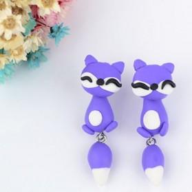 Boucles d'oreilles Renard (Violet)