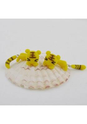 Boucles d'oreilles Chats (Jaune)
