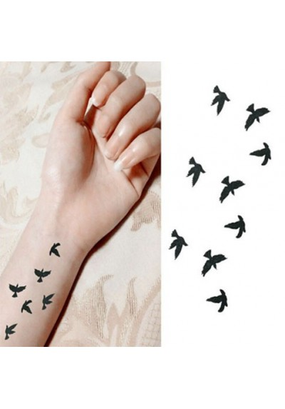 tatouages ph m res petits oiseaux en vol pas cher. Black Bedroom Furniture Sets. Home Design Ideas